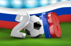 De voetbalvoetbal 2018 3d Rusland geeft geïsoleerd terug Royalty-vrije Stock Fotografie