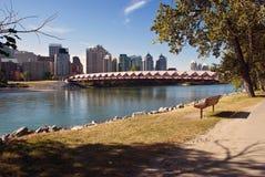 De voetbrug van Calgary Stock Fotografie