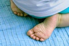 De Voeten van de baby Stock Foto's
