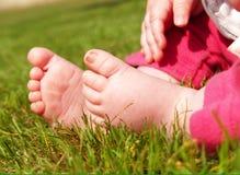 De voeten van de baby Stock Foto