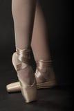 De Voeten van de ballerina stock fotografie