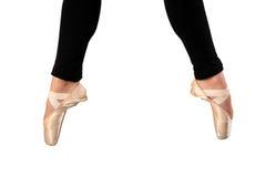 De voeten van de ballerina Royalty-vrije Stock Afbeelding