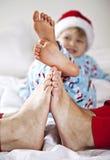De voeten van de familie Stock Fotografie