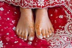 De voeten van de henna Stock Foto