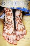 De voeten van de Indische vrouw Stock Afbeeldingen