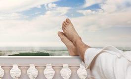 De voeten van de vakantie Stock Foto