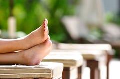 De voeten van de vakantie Stock Afbeeldingen