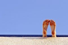 De voeten van de vakantie stock afbeelding