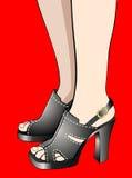 De voeten van de vrouw Royalty-vrije Stock Afbeeldingen