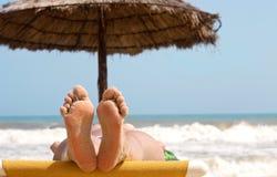 De voeten van de vrouw Royalty-vrije Stock Foto