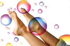 De voeten van de zomer Royalty-vrije Stock Afbeeldingen