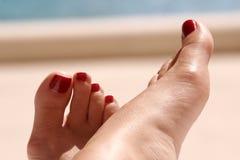 De voeten van de zon stock fotografie
