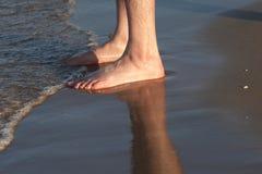 De voeten van de zonsondergang Royalty-vrije Stock Afbeeldingen