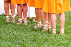 De Voeten van het bruidsmeisje stock foto's