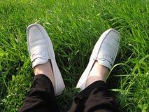 De voeten van het gras royalty-vrije stock afbeelding