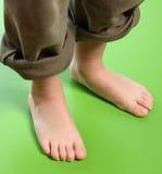 De voeten van het jonge geitje Stock Foto