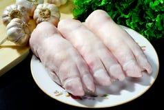 De voeten van het varken stock fotografie