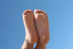 De voeten van kinderen Stock Afbeelding