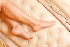 De voeten van vrouwen Stock Foto