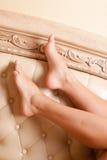 De voeten van vrouwen Stock Fotografie