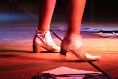 De voeten van zangers stock foto