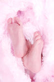 De voeten van zuigelingen Stock Afbeeldingen