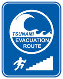 De voetganger van Tsunami royalty-vrije illustratie