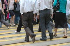De voetgangers van de binnenstad Royalty-vrije Stock Foto's