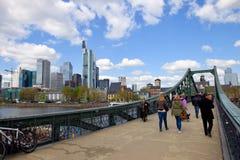 De Voetgangersbrug van Frankfurt Royalty-vrije Stock Afbeelding