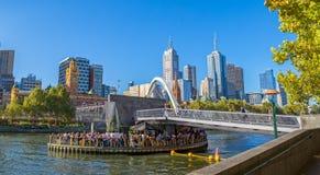 De Voetgangersbrug van Melbourne Southbank Royalty-vrije Stock Afbeeldingen