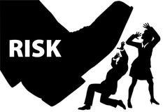 De voetstap van het risico op onverzekerde bedrijfsmensen Stock Fotografie