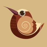 De vogel leuke abstracte voorhistorische kleur van de kolibrievinger Royalty-vrije Stock Foto's