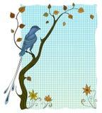 De vogel op de boom Royalty-vrije Stock Afbeeldingen
