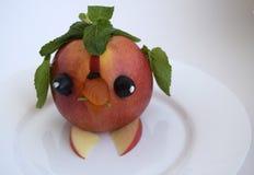 De vogel van appel wordt gemaakt die Stock Foto's