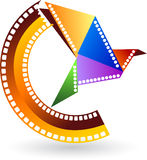 De vogel van de film stock illustratie