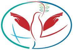 De vogel van de handenvrede royalty-vrije illustratie