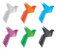 De Vogel van de origamifilm Stock Afbeeldingen