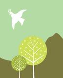 De Vogel van de vrede Stock Afbeeldingen