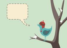 De Vogel van de winter stock illustratie