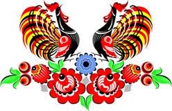 De vogel van Gorodec Stock Illustratie