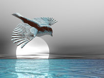 De Vogel van het ijs stock illustratie