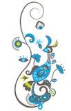 De vogel van het ornament royalty-vrije illustratie