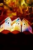 De vogelhuizen van de herfst Stock Foto's