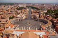 De vogelmening van Rome van Heilige Peter Church Stock Afbeeldingen