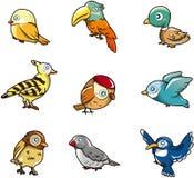 De vogelpictogram van het beeldverhaal Stock Afbeelding