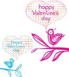 De gelukkige dag van Valentijnskaarten Royalty-vrije Stock Afbeeldingen