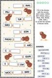 De vogels themed woordraadsel stock illustratie