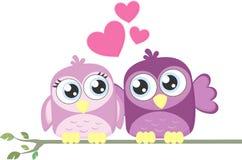 De vogels van de liefde en een boom vector illustratie