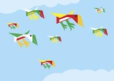 De vogels van de origami vector illustratie