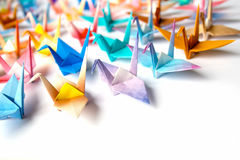De vogels van de origami stock afbeeldingen